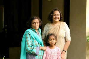 Naushaba and Ameena with granddaughter Miraal