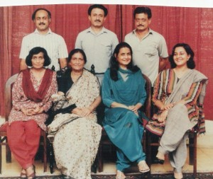 Siblings with mother, Nafisa (next to Naushaba on extreme left)